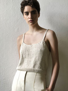 Image of Hand knitted Crop Top