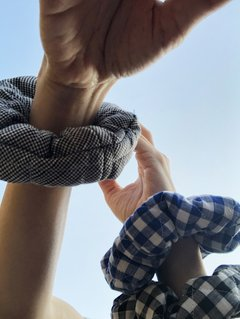 GINGHAM scrunchies on internet