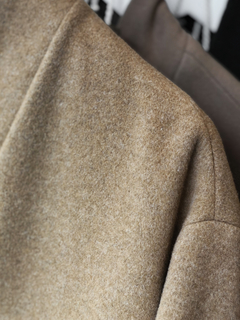 STAND COLLAR WOOL COAT - online store