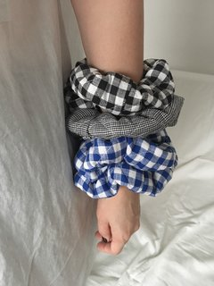 GINGHAM scrunchies - buy online