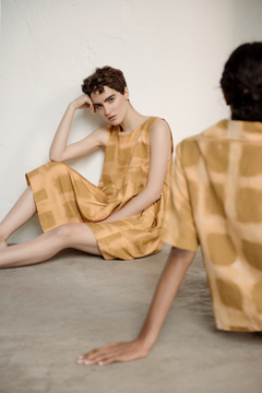 Image of Shibori linen dress