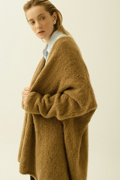 Oversized hand knitted coat on internet