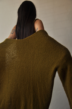 Oversized hand knitted coat - online store