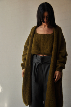 Oversized hand knitted coat - Julieta Grana