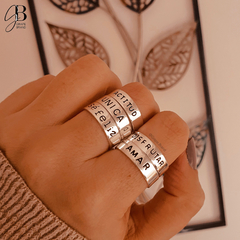 AN 082 - Anillo ACTITUD (ACERO BLANCO) - Grape Brand