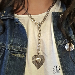 CO 128 - Collar con dije corazon (BIJOU)