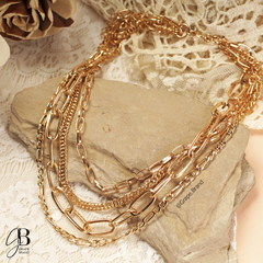 CO 160 - Collar multiple dorado - comprar online