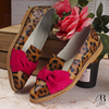 Chatitas EMMA - Animal Print y Fucsia