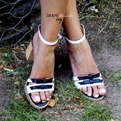 Sandalias MALIBU -- Blanco y Negro - Grape Brand