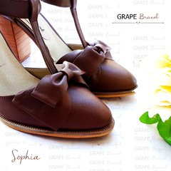Guillerminas SOPHIA -- Cuero CHOCOLATE