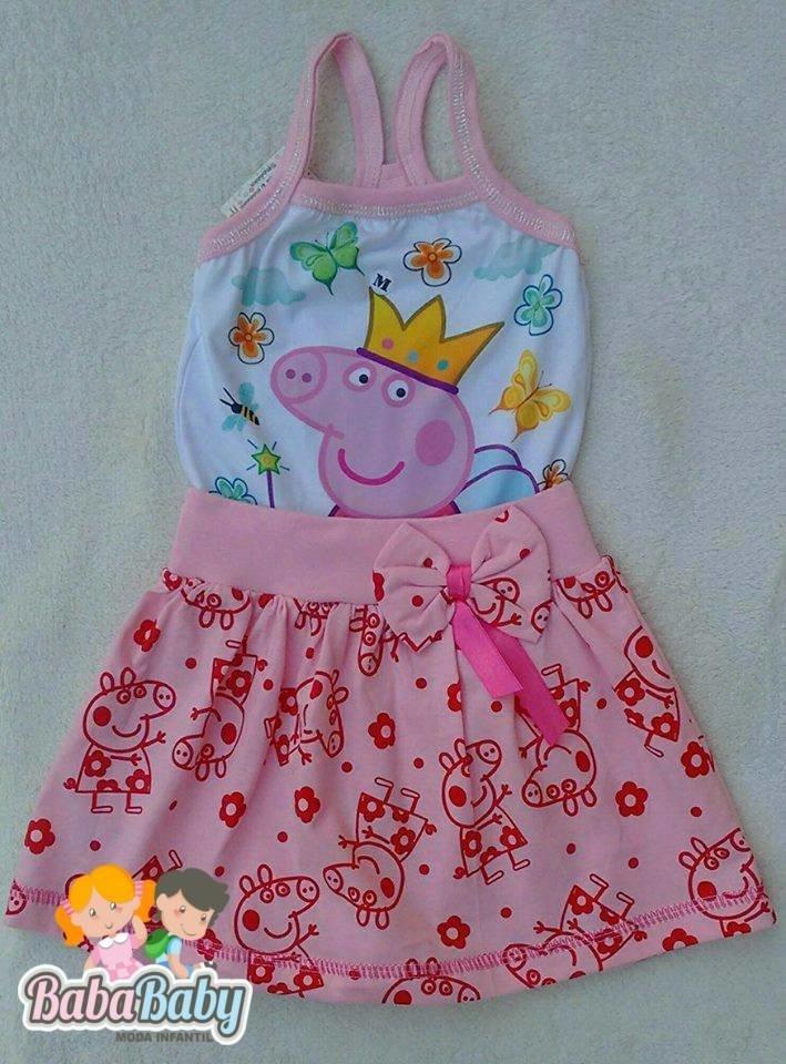 34456fbb9 Vestido Temático Peppa Pig (Alça)