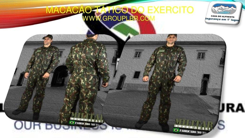 Macacão Tático camuflado do Exercito 7fa9170b2b5