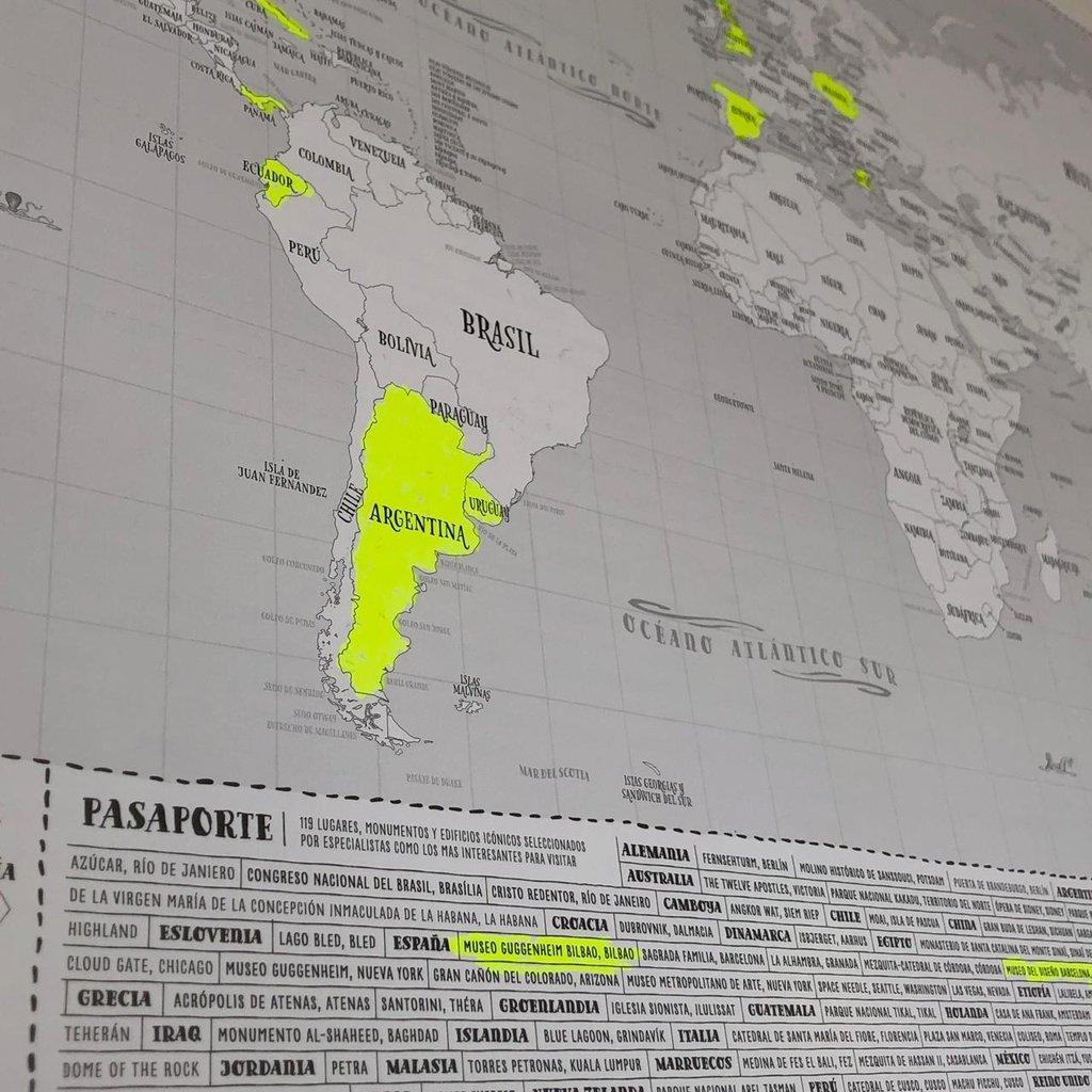 Mapamundi Marcando Comprar En Tienda Regalona