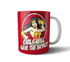 Tazas cerámica - Wonder Woman (Girls will save the world!)