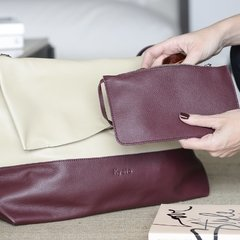 CARTERA MOMA ( Beige y Bordo )