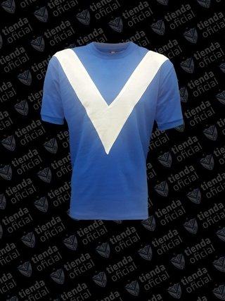 Camiseta retro azul