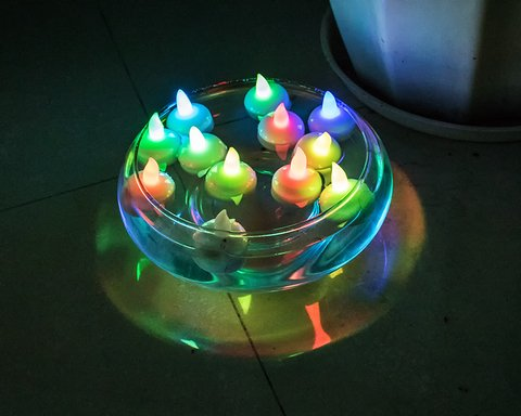 Velas led sumergibles x6 en internet