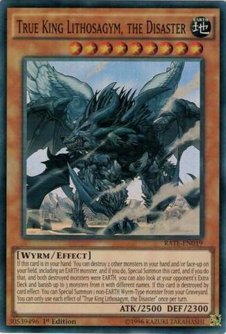 yugioh True King Lithosagym, the Disaster - RATE - 019 super rare