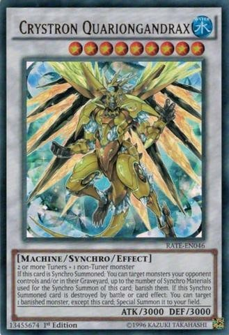 yugioh Crystron Quariongandrax - RATE - 046 ultra rare