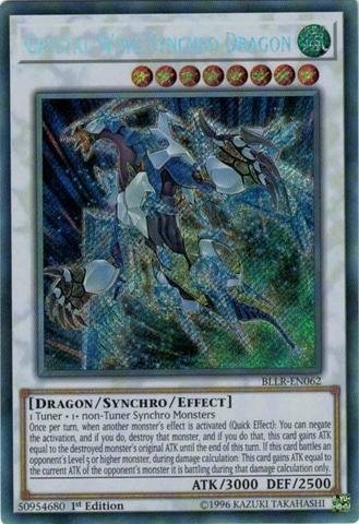 CRYSTAL WING SYNCHRO DRAGON - BLLR SECRET RARE PRE VENDA