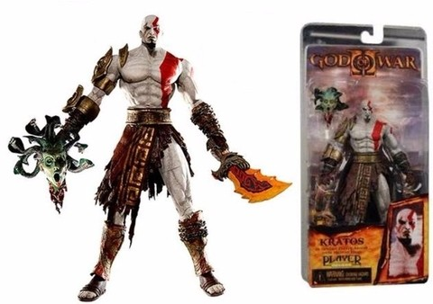 Boneco Kratos God Of War Medusa Head - NECA