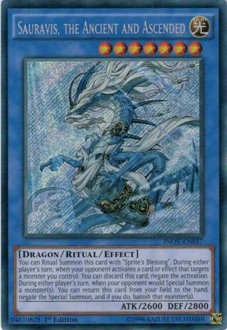 yugioh Sauravis, the Ancient and Ascended - INOV - secret rare