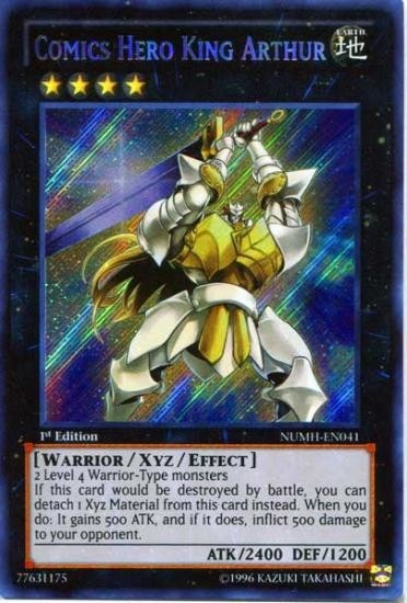 YuGiOh Comics Hero King Arthur NUMH-EN041 - Secret Rare