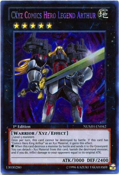 YuGiOh CXyz Comics Hero Legend Arthur NUMH-EN042 - Secret Rare