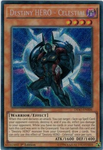 YUGIOH DESTINY HERO - CELESTIAL - DESO-EN006 - SECRET RARE