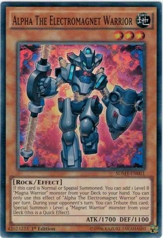 YUGIOH ALPHA THE ELECTROMAGNET WARRIOR - SDMY-EN001 - SUPER RARE