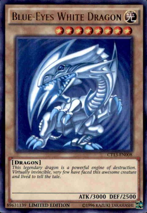 yugioh BLUE-EYES WHITE DRAGON - CT13-pt008 - ULTRA RARE
