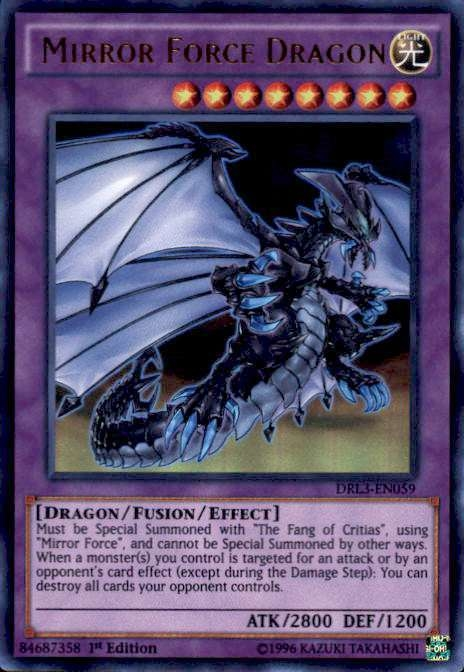 YUGIOH MIRROR FORCE DRAGON - DRL3-PT059 - ULTRA RARE