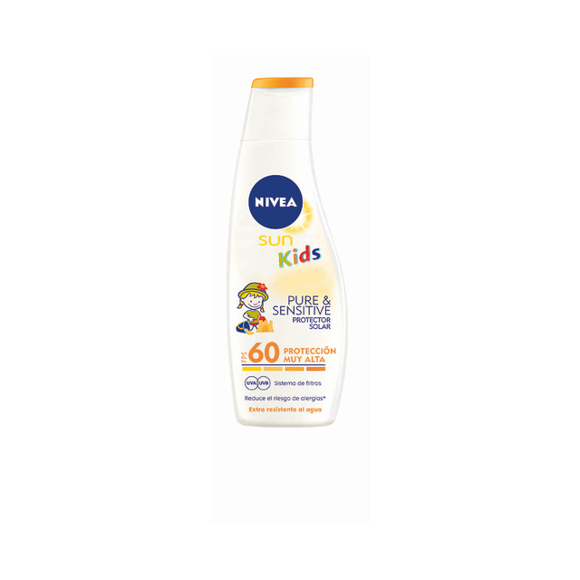 nivea sun fps 60 pure sensitive para ninos