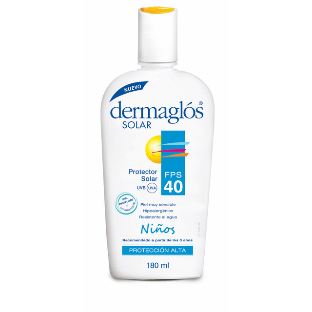 dermaglos solar fps 40 ninos emulsion x 180 ml
