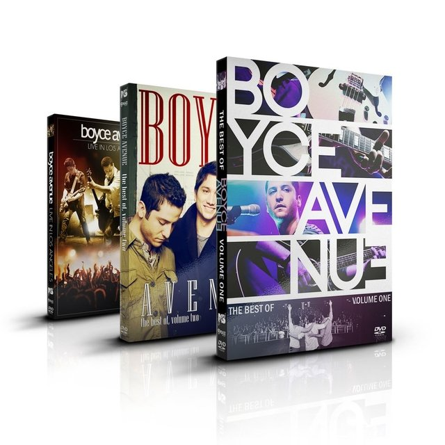 Kit Boyce Avenue: 5 DVD's + 2 CD's - desconto de 37%