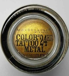Maybelline Eyestudio Color Tattoo Metal Sombra Gold Rush