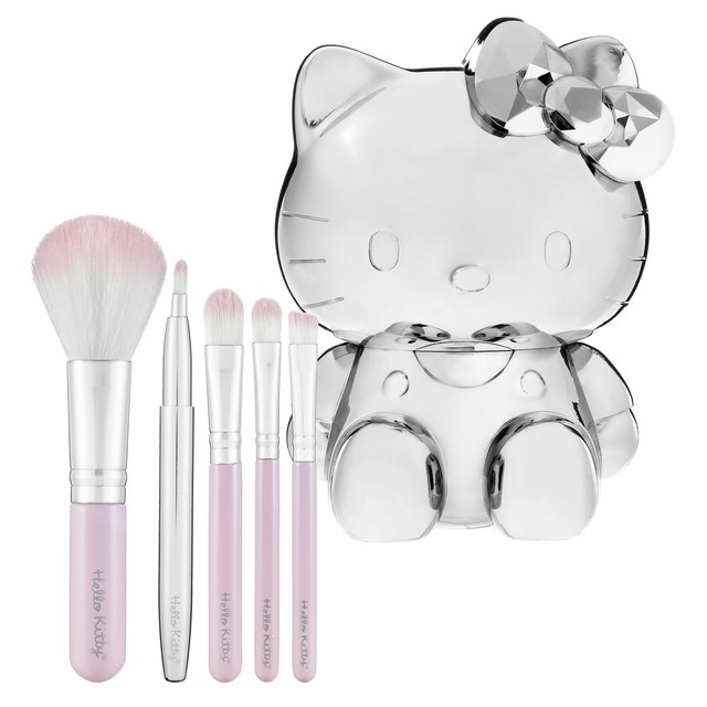 Sephora Collection Hello Kitty 5-Piece Brush Set Kit 5 Pincéis