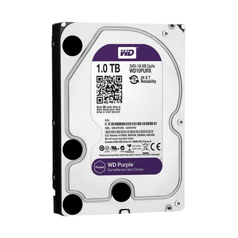 Disco Sata Western Digital PURPLE 1 TB - ¡Ideal para CCTV! - comprar online