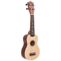 UKELELE SOPRANO NATURAL PANDA (INCLUYE FUNDA)