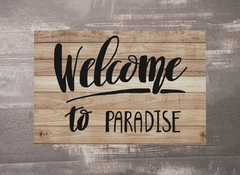 TAPETE 60x40CM - WELCOME TO PARADISE - comprar online