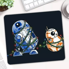 Mousepad 18cmx22cmx3mm R2D2 e BB8 StarWars