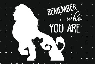 Tapete 60x40cm - Rei Leão (Remember Who You Are) - comprar online
