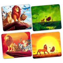 KIT COM 4 MOUSEPADS PEQUENO O REI LEÃO DISNEY ( 18cmx22cmx3mm )