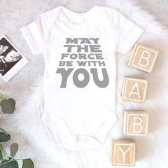 BODY INFANTIL - STAR WARS MAY THE FORCE BE WITH YOU