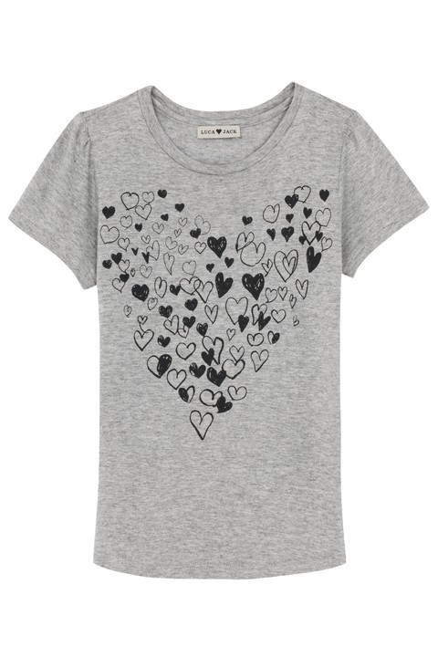 T-shirt Kids Doodling Hearts