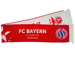 "Cachecol Benfica X Bayern ""UEFA Champions League 2015/2016"" - comprar online"