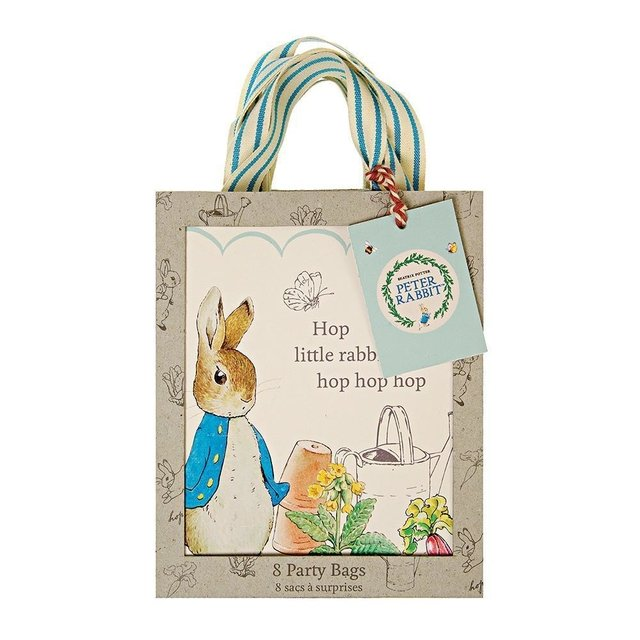 BOLSITAS PETER RABBIT  DE PAPEL  PACK X 8