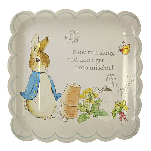PLATOS PETER RABBIT GRANDES   PACK X 12