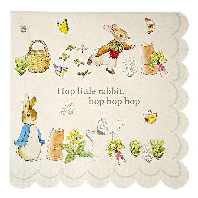 SERVILLETAS  PETER RABBIT  GRANDES  X 20
