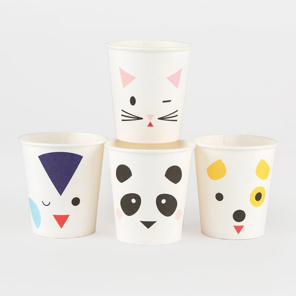 VASOS MINI ANIMALS  X 8
